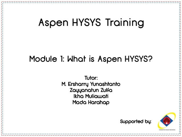 Module 1 - Introduction to Aspen HYSYS