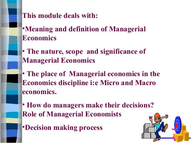 The Importance of Managerial Economics in Decision Making