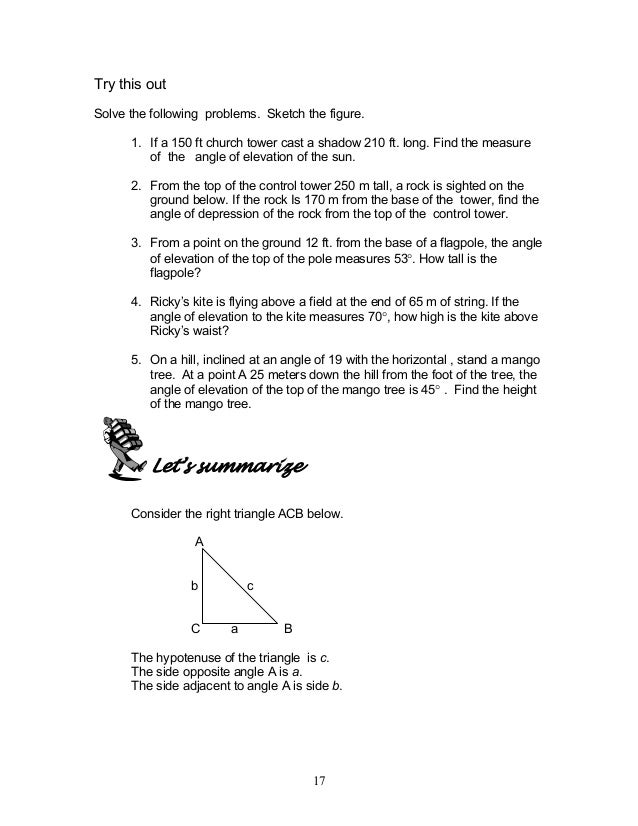 Module 1 Triangle Trigonometry