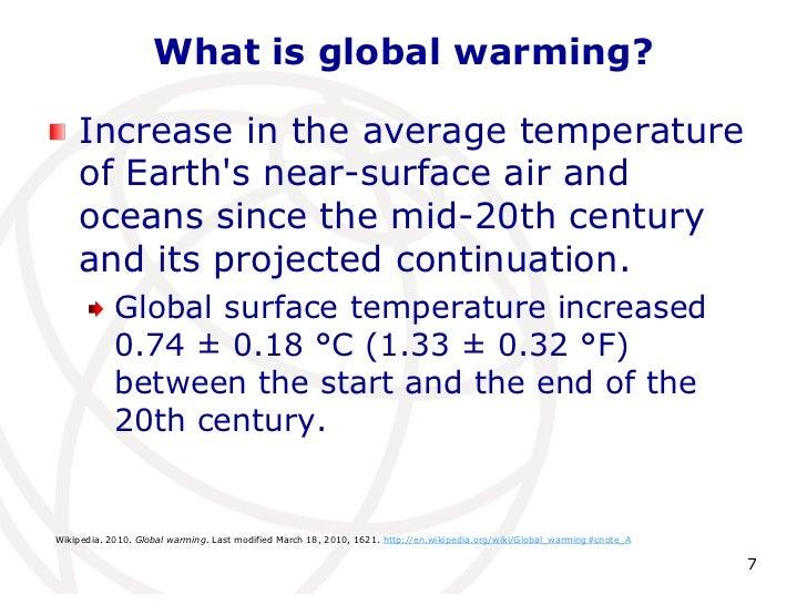 College essay global warming