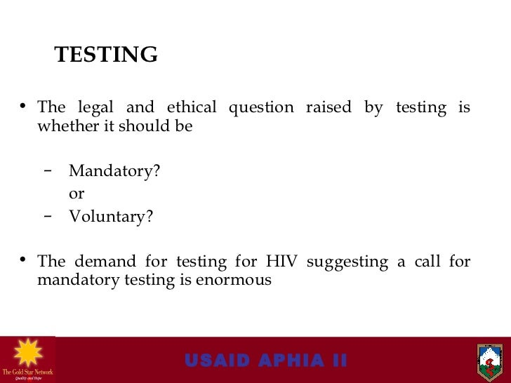 The importance and need for mandatory aids testing