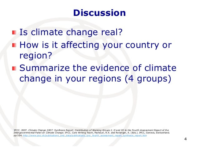 Is climate change real essay
