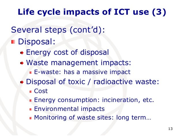 reducing environmental impacts when using ict Ict for sustainability: an emerging research field  reducing the environmental impacts of ict hardware and  understanding and using ict as a transformational.
