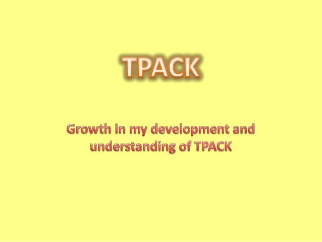 This picture is a diagram of my understanding of TPACK from module 5 and where I saw myself in each of the areas at that t...