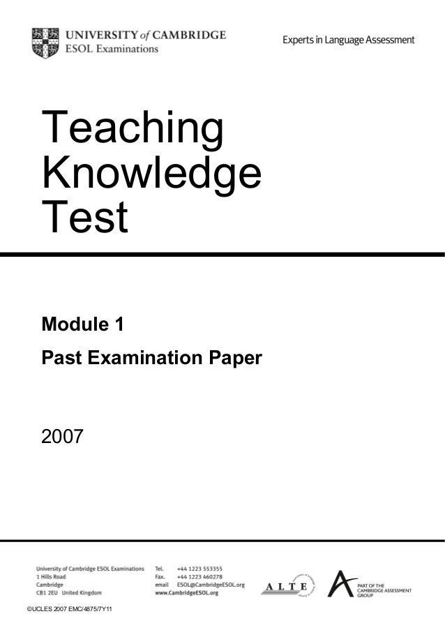 The tkt online course, curso de preparacion tkt, module 1, module.