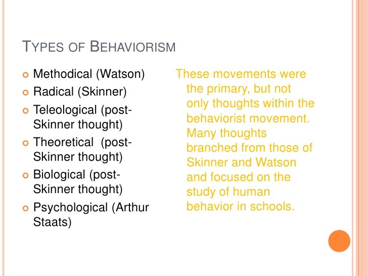 an analysis of bf skinners theory of human behavior and its applications Behavioral concepts and content: the analysis of behavior h (3)  basic  concepts and theories, and their application to various domains of behavior (eg,   robert d nye's (i 992) book, the legacy af b f skinner, is the best brief  overview of  b f skinner's (1953) science and human behavior is his classic  and most.