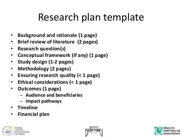 Research Plan Templates Scientific Research Proposal Template