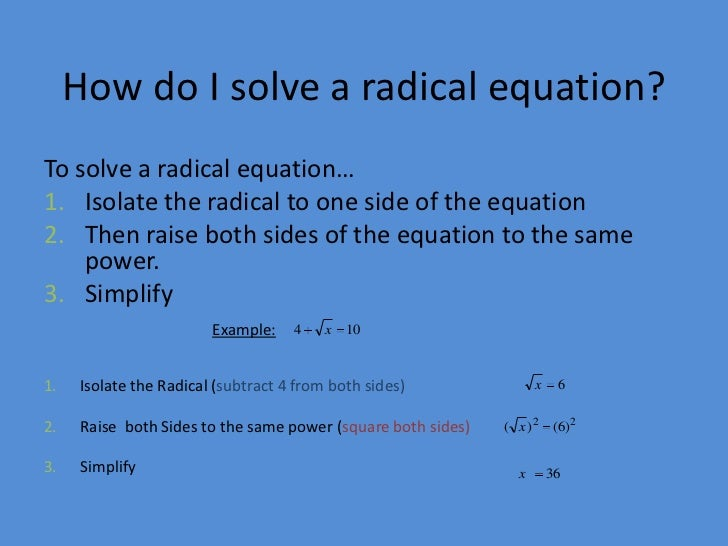 Printables Solving Radical Equations module 14 lesson 4 solving radical equations