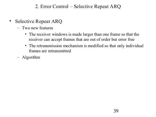 module15  sliding windows protocol and error control