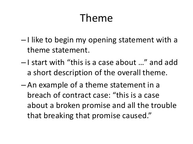 Module 19 Opening Statement As Story