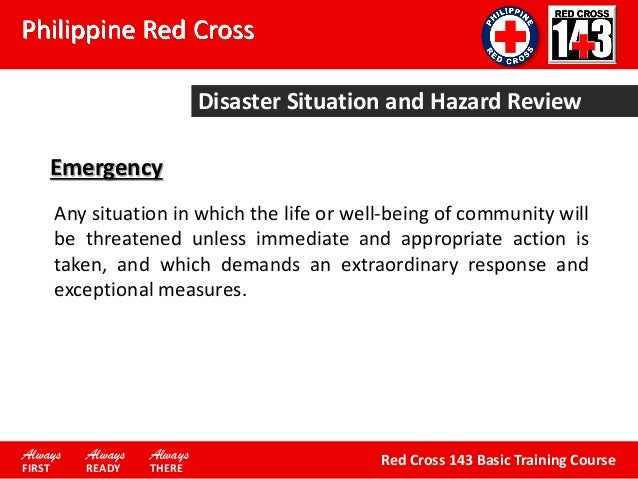 From Philippine Red Cross-BTC Module 1