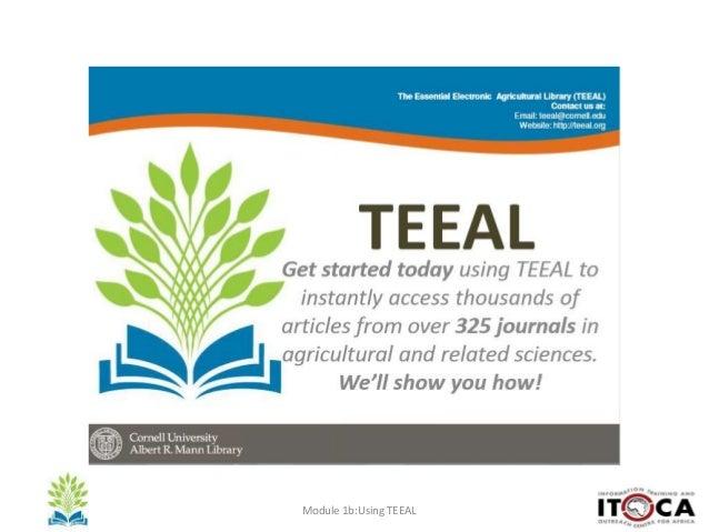 Module 1b:Using TEEAL