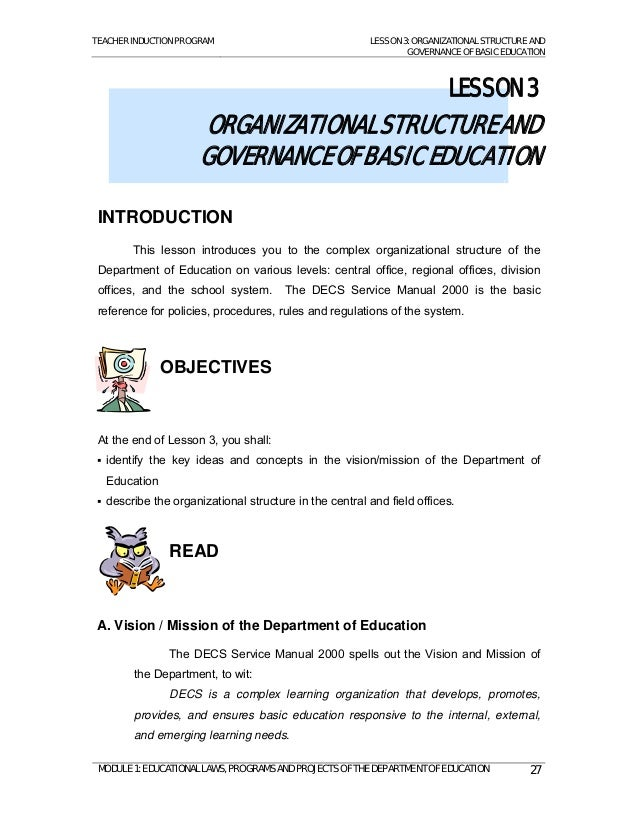 introduction of ra 9155 The philippine technical vocational education and training (tvet)  i introduction  of ra 9155 or governance of basic education act on.