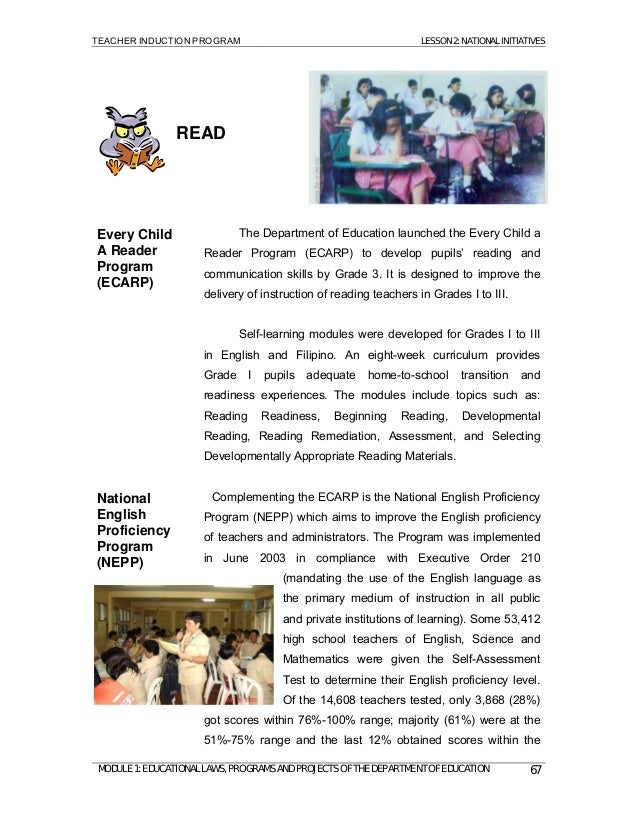every child a reader program ecarp Programs & projects  every child a reader program (ecarp) an institutionalized programs by deped which enforce the.