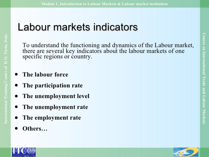 an introduction to the analysis of the labor markets A comparative analysis of youth a comparative analysis of youth labor market exclusion 1 introduction.