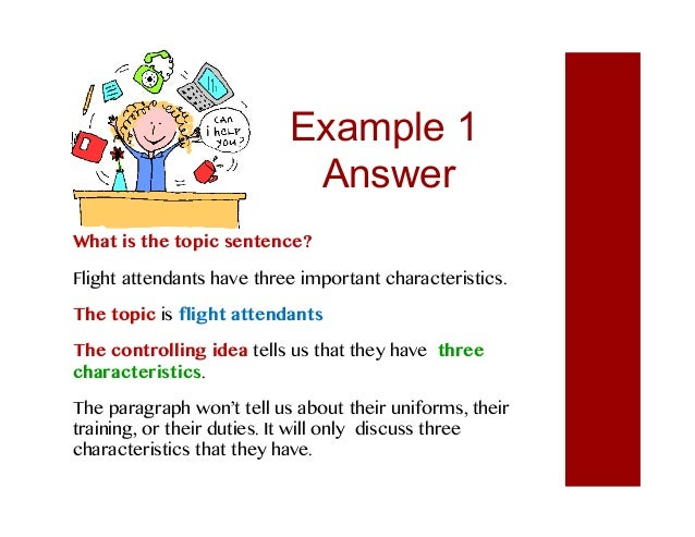 responsibility and topic sentence Rights and responsibilities for children contents what are our rights what is a responsibility what happens when people don't accept responsibility.