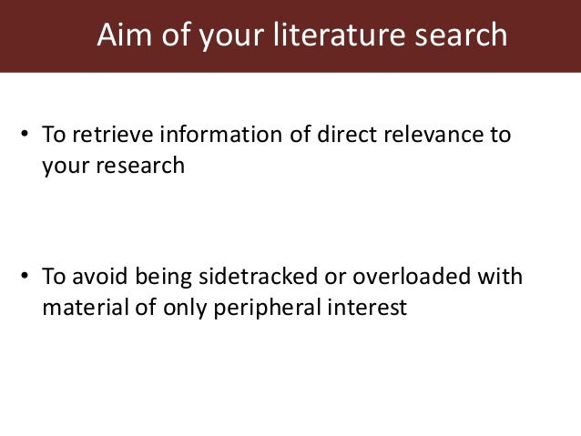 relevance of literature review in research process Types the main types of literature reviews are: evaluative, exploratory, and instrumental a fourth type, the systematic review, is often classified separately, but is essentially a literature review focused on a research question, trying to identify, appraise, select and synthesize all high-quality research evidence and arguments relevant to.