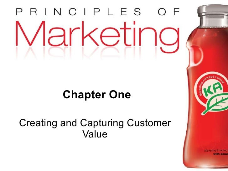 Chapter One Creating and Capturing Customer Value
