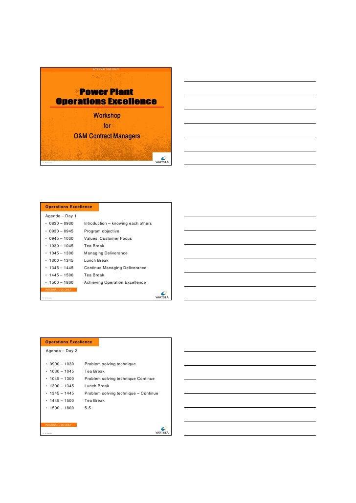28/11/2011                                 INTERNAL USE ONLY                             Workshop                         ...