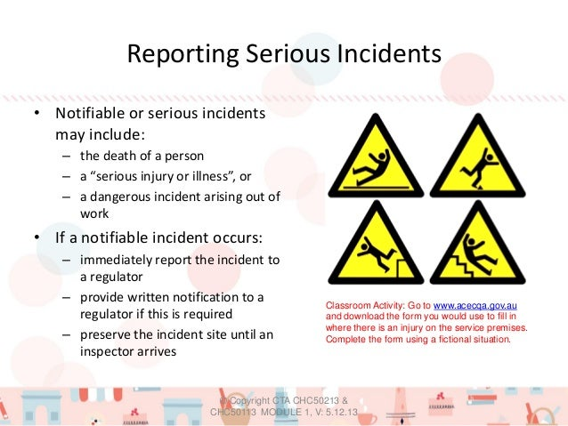 reporting procedures for accidents incidents emergencies and illnesses Employees must report all incidents to their manager medical emergency procedure incident reporting and investigation procedure page 6 of 14.