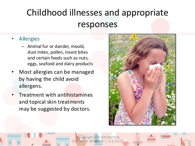 common childhood illnesses signs and symptoms and actions to take
