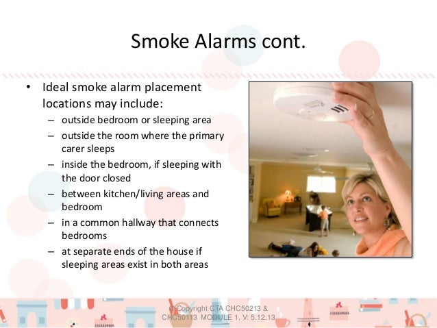 Module 1 safety first ppt v - Smoke detector placement in bedroom ...