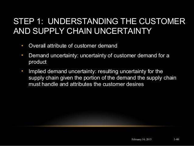 understanding the customer and supply chain uncertainty essay - 391 - impact of supply chain uncertainty on business performance and the role of supplier and customer relationships: comparison between product and service organization.