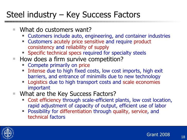 What are the Main Key Success Factors of an Industry?