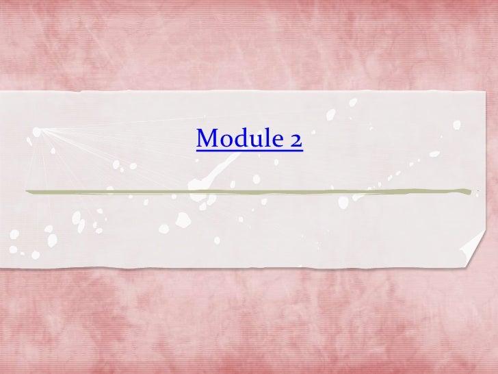 Module 2<br />