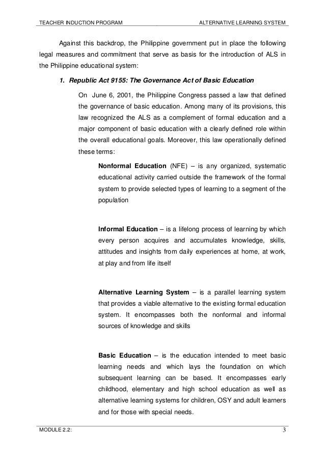 introduction of ra 9155 Do 1, s 2003 – promulgating the implementing rules and regulations (irr) of republic act no 9155 otherwise known as the governance of basic education act of 2001 january 6, 2003 do 1, s 2003.