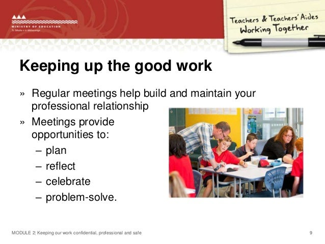 Collaborative Teaching Nz ~ Module keeping our work confidential professional and safe