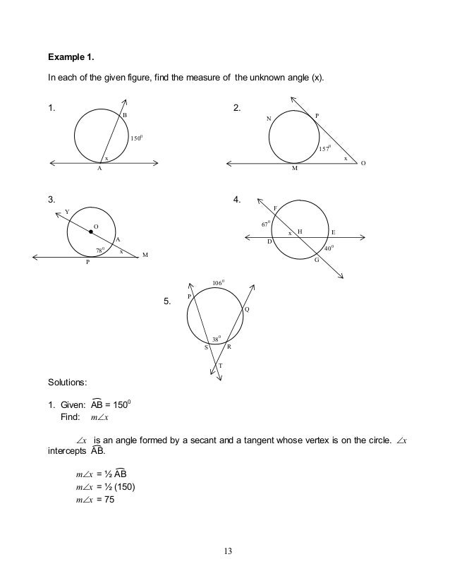Module 2 circles