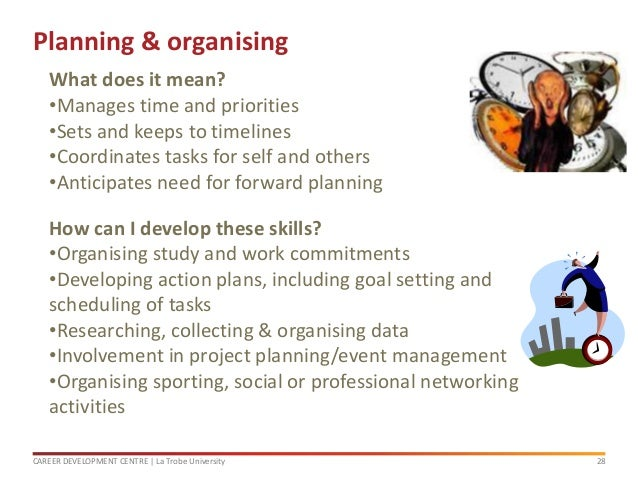 how to develop planning and organising skills