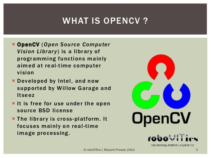 robocv module 2  introduction to opencv and matlab
