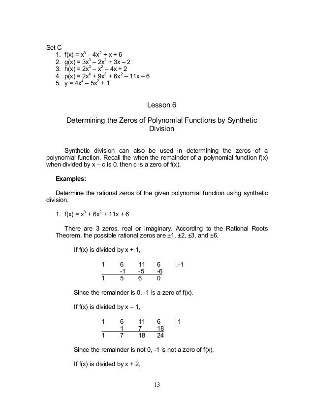 Module 2 Polynomial Functions