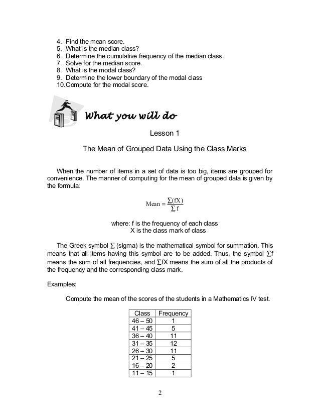 Module 2 Statistics
