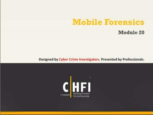 Module 20 mobile forensics
