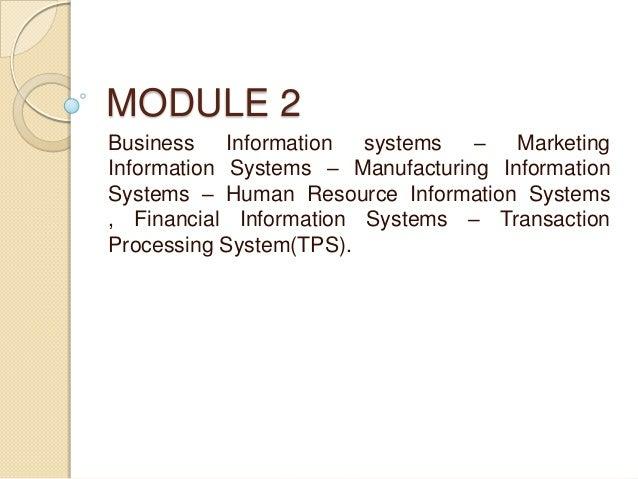 management information system module