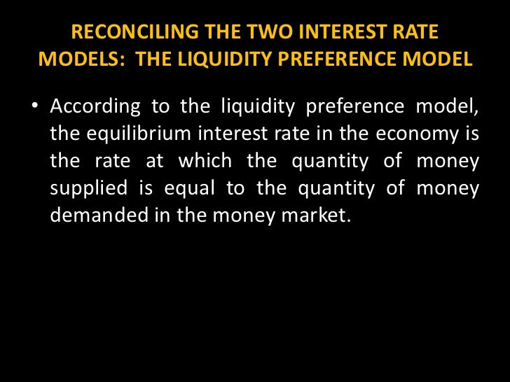 the liquidity preference framework Answer to explain the meaning and differences between the loanable funds framework and the liquidity preference framework in estim.