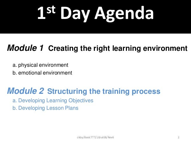 instructional module and training plan Does every elearning course's module contain a summary and your elearning course a glossary of key terms  of the training program, such as the quality of .