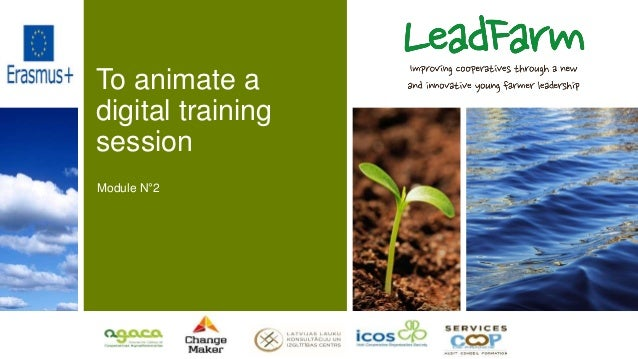 To animate a digital training session Module N°2