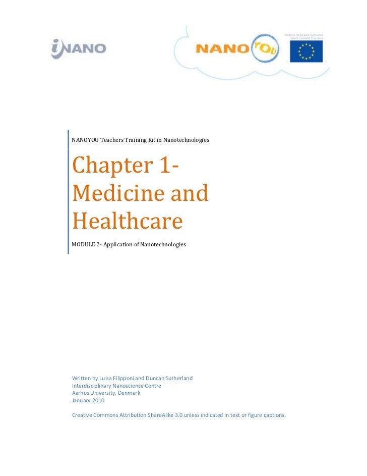 NANOYOUTeachersTrainingKitinNanotechnologies    Chapter1‐    Medicineand    Healthcar...