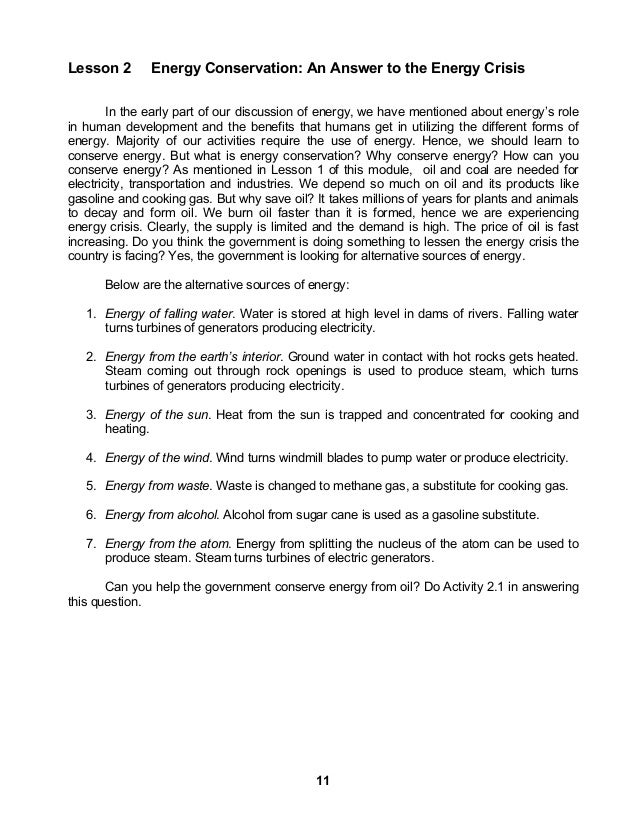Module 2 energy in society – Energy Transformation Worksheet Answers