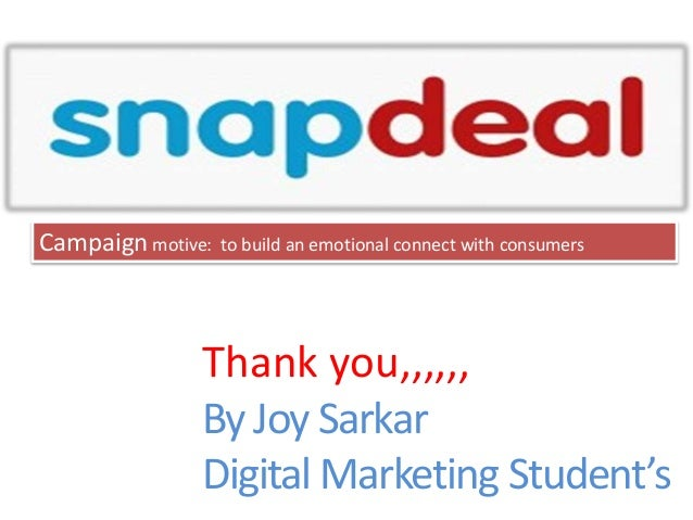 7b6c8bc95 DilKiDealonSnapdeal Campaign by Snapdeal for Sales