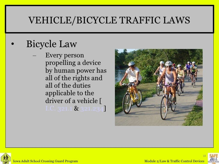 18. VEHICLE/BICYCLE TRAFFIC ...
