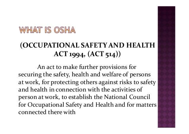 Module 2 Legislation Of Osh In Malaysia