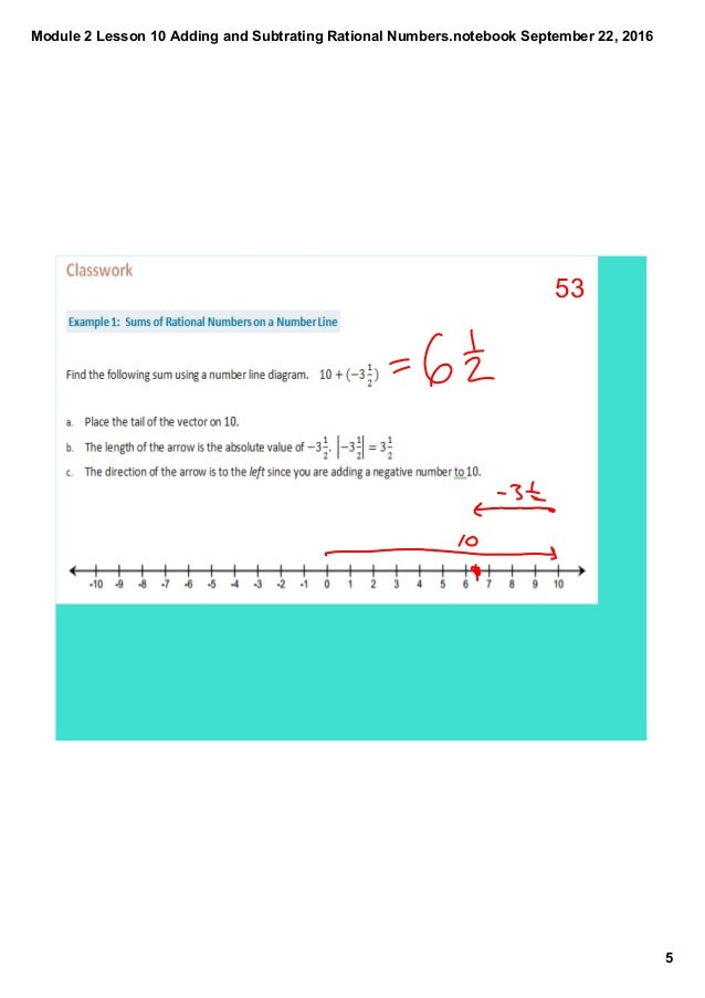 Lesson 1 extra practice rational numbers answers