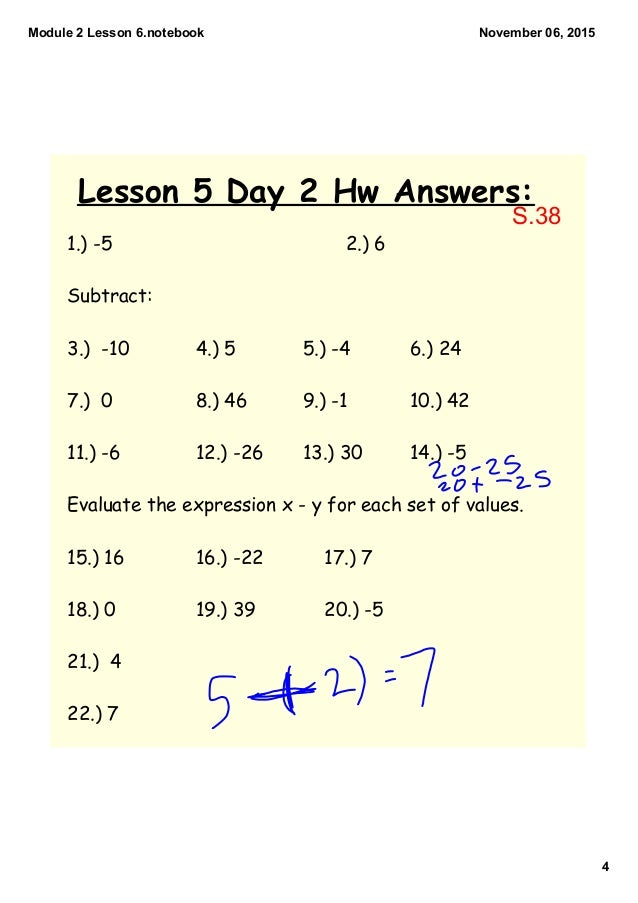evaluate homework and practice module 5 answers