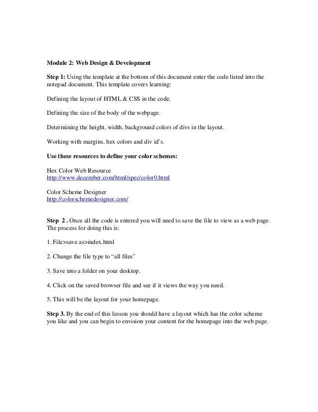 Module 2 lexington minuteman web development basic layout template module 2 web design development step 1 using the template at the bottom index maxwellsz