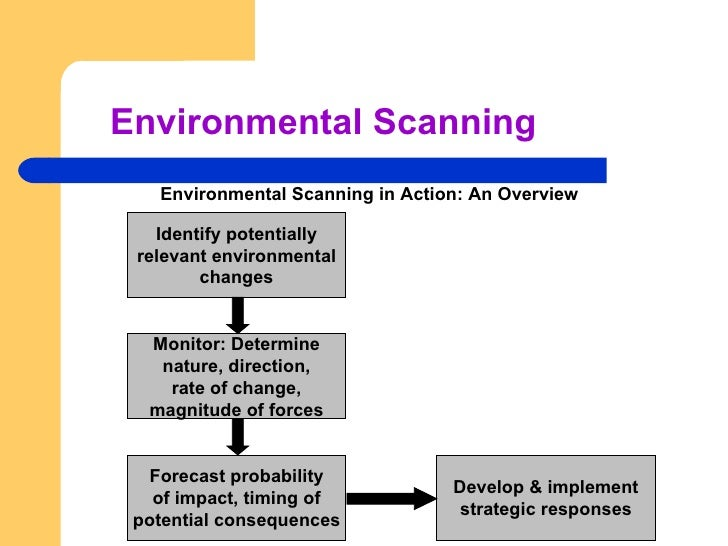 environmental scan template - module 2 marketing environment